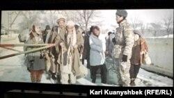 Кадр из кинокартины «Оралман» режиссера Сабита Курманбека. Алматы, 8 ноября 2016 года.