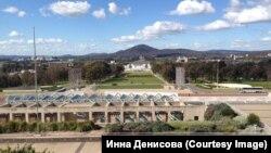 Канберра, вигляд з даху будівлі парламенту Австралії