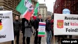 Акция европейских кадыровцев в Германии | Стоп-кадр из фильма ZDF