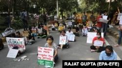 تجمع اعتراضی در هند برای اقدام علیه تغییرات اقلیمی