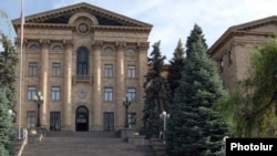 Armenia - The National Assembly building in Yerevan.
