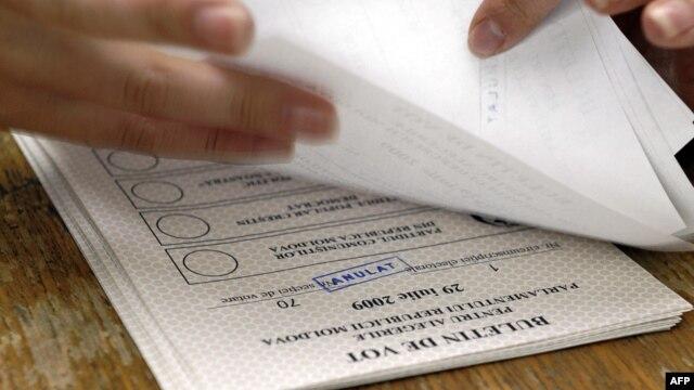 Buletine de vot la alegerile parlamentare anticipate din iulie 2009