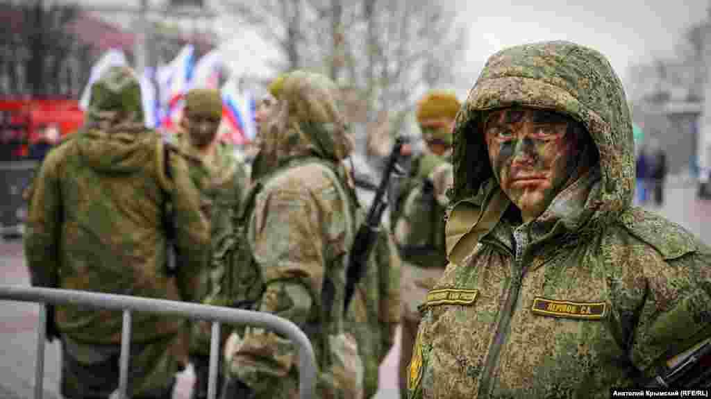 Во время российского «Дня защитника Отечества» в Симферополе