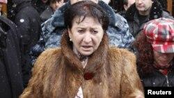 Бывший кандидат в президенты Южной Осетии Алла Джиоева. Цхинвал, 30 ноября 2011 года.