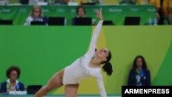 Бразилия -- Хури Гебешян представляет Армению на Олимпийских играх в Рио-де-Жанейро, 7 августа 2016 г.