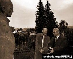 Алег Трусаў і Генадзь Бураўкін. Вільня, 2006.