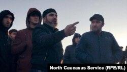 Дагестанские дальнобойщики на одной из акций протеста