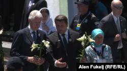Fostul președinte american Bill Clinton la ceremonia de la Potocari