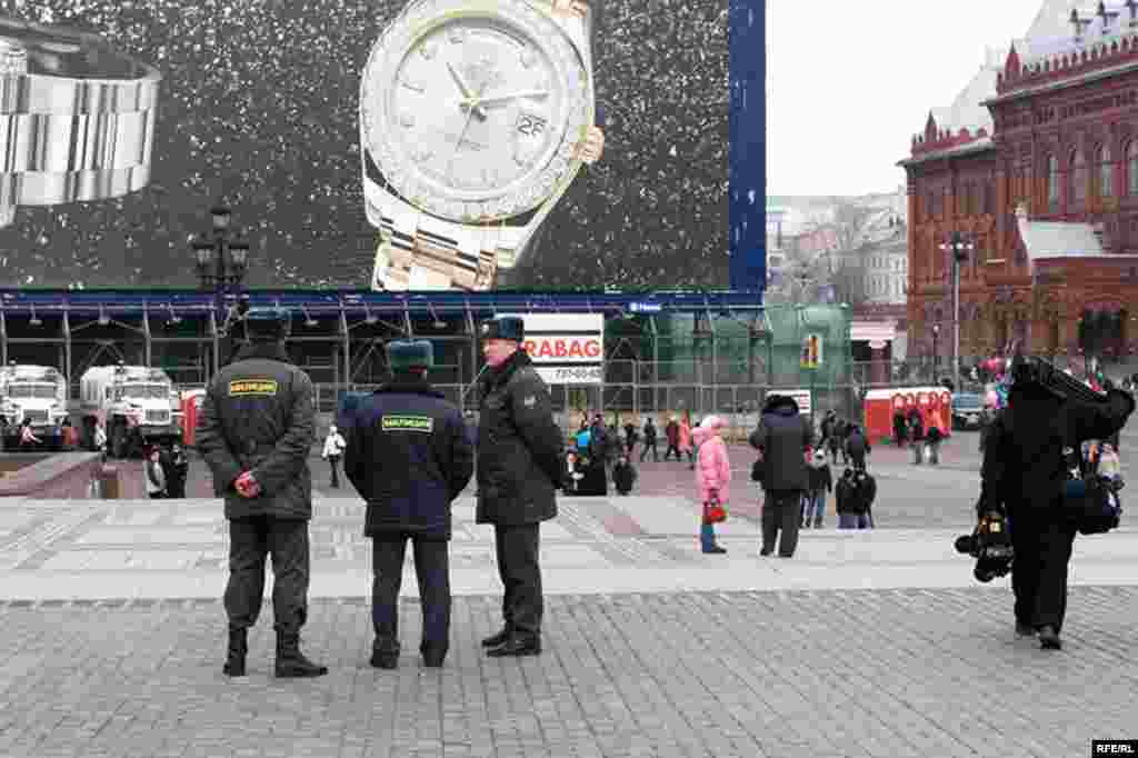 Russia – Police on Manezhnaya square, Moscow, 10Mar2008