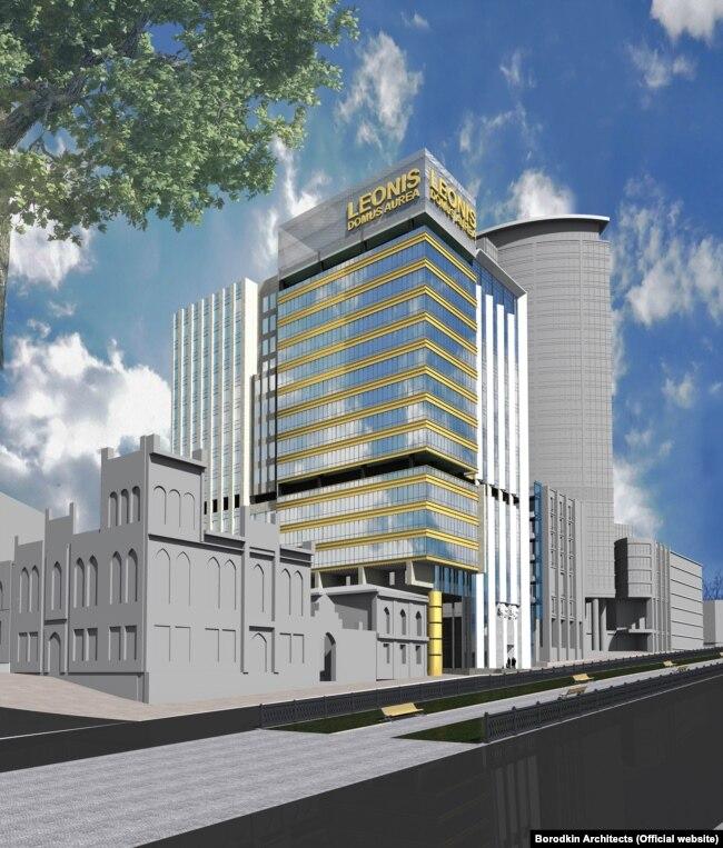 Проект будинку на бульварі Шевченка з сайту архітектурної студії Borodkin Architects