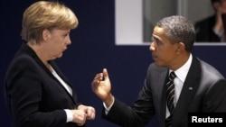 Merkel dhe Obama - foto arkivi