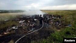 Pamje nga vendi ku është rrëzuar aeroplani