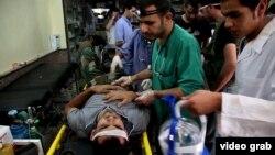 Раненые в больнице города Алеппо