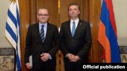 Հայաստանի դեսպան Ալեքսան Հարությունյան և Ուրուգվայի խորհրդարանի նախագահ Ջերարդո Ամարիլլո