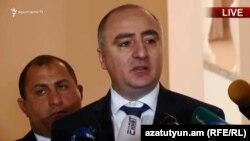 Начальник Специальной следственной службы Сасун Хачатрян, Ереван, 1 ноября 2018 г.