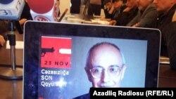 На пресс-конференции, посвященной Рафику Таги. Архивно-иллюстративное фото