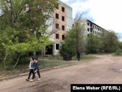 Дома в поселке Жайрем Карагандинской области. 20 мая 2019 года.