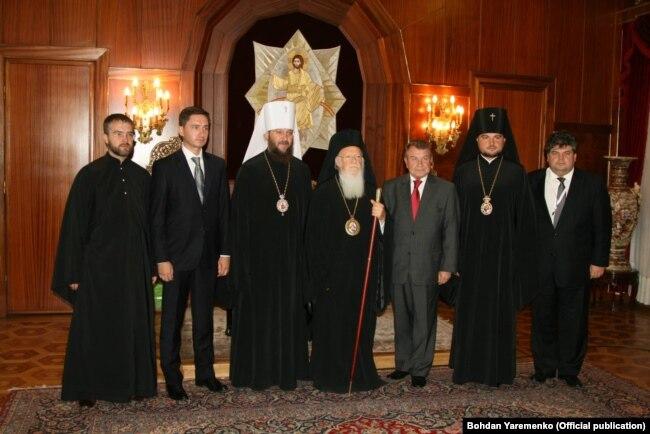 Украинская делегация у патриарха Константинопольского