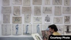 Македонскиот уметник Ристо Соколов – Сокол.