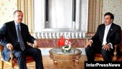 თურქეთის პრემიერ-მინისტრი რეჯეპ ტაიპ ერდოანი და საქართველოს პრეზიდენტი მიხეილ სააკაშვილი