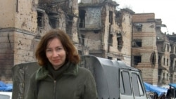 Natalya Estemirova in the Chechen capital of Grozny in 2004