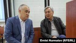 Өмүрбек Текебаев менен Дүйшөнкул Чотонов.