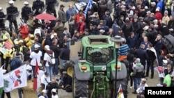 ფერმერების აქცია ბრიუსელში