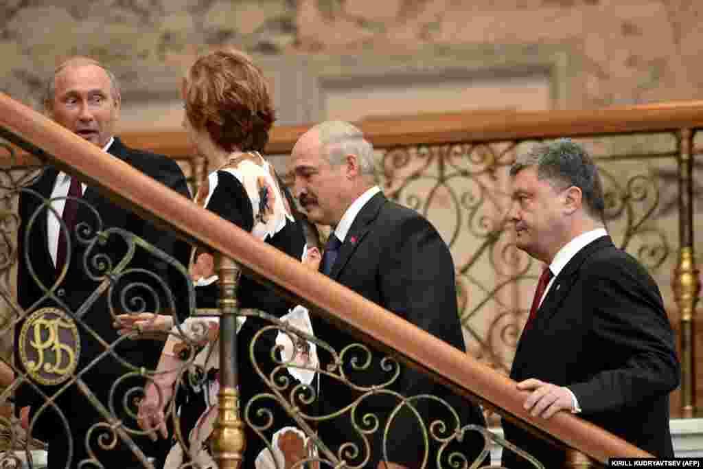Путин, Эштон, Лукашенко и Порошенко
