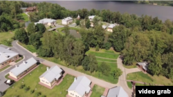 A screen-grab of drone footage taken by member of Aleksei Navalny's team, showing a sprawling luxury estate that purportedly belongs to Russian Prime Minister Dmitry Medvedev.