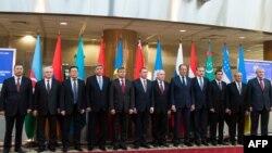 Участники встречи глав МИД стран СНГ в Минске