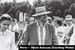 Васіль Шаранговіч з дачкой Натальляй