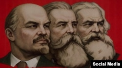 Lenin, Engels, Marx.