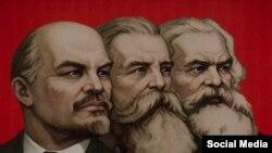 Энгельс, Маркс жана Ленин.