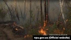 Пожежа у Чорнобильській зоні триває