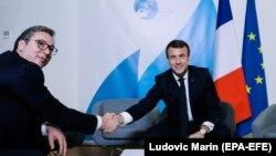 Predsednik Srbije Aleksandar Vučić i njegov francuski kolega Emanuel Makron, Pariz, novembar 219.