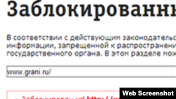 Grani.ru site blocked in Russia