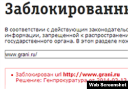 Скриншот страницы сайта Grani.ru.