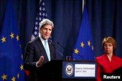 Держсекретар США Джон Керрі та верховний представник ЄС із закордонних справ Катрін Аштон