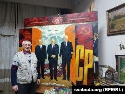 Аляксей Панцюк-Жукоўскі зь «ліквідатарамі» СССР