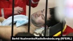 Роман Насіров в залі суду на ношах, 4 березня 2017 року