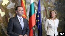 Архивска фотогографија - Прес-конференција на Бујар Османи и Екатерина Захариева на самитот на Берлинскиот процес.