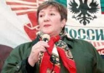 Galina Starovoitova was gunned down in the entrance to her St. Petersburg apartment building in November 1998 (AFP file photo)