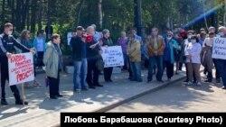 Митинг нефтяников в Охе (Сахалин)