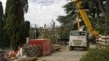 Строительство в Форосском парке, 2 марта 2021 года