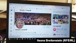 Аккаунт президента США Дональда Трампа в Twitter'е.