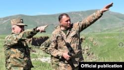 نیروهای نظامی ارمنستان در منطقه مرزی با آذربایجان