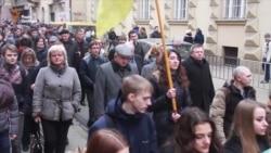 Львів'яни вшановують пам'ять Героїв Небесної сотні (відео)