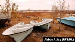 Езерото Урмија во Иран во близина на границата со Турција.