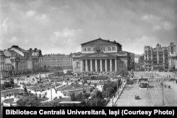 Orașul Moscova în anii 1930. Sursa: Biblioteca Centrală Universitară, Iași