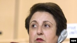 Shirin Ebadi in Geneva on December 10.